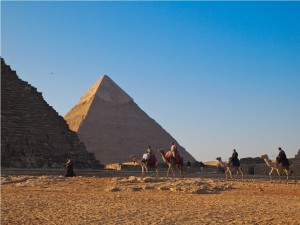 The Great Pyramid at Giza, Egypt, is the last remaining wonder of the ancient world intact. (c) GTH & Nathan DePetris